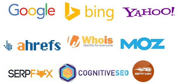 Image: Collage of the tools NicheLabs uses for SEO. NicheLabs Digital Marketing Agency, Atlanta GA and Naples FL
